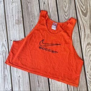 Vintage Nike soccer tank crop mesh orange one size